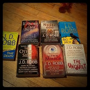 J. D. Robb book lot of 7 PB